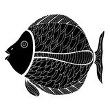Zentangle stylized Fish Royalty Free Stock Image
