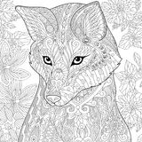 Zentangle stylized fox Royalty Free Stock Images