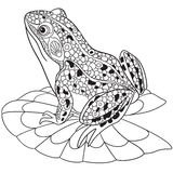 Zentangle stylized frog Royalty Free Stock Photo