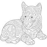 Zentangle stylized husky Royalty Free Stock Image