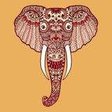 Zentangle stylized Indian Elephant Hand Drawn lace. Zentangle stylized Indian Elephant. Hand Drawn lace illustration isolated on white background. Sketch for royalty free illustration