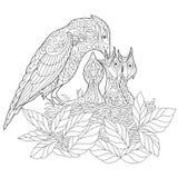 Zentangle stylized jay bird Royalty Free Stock Image