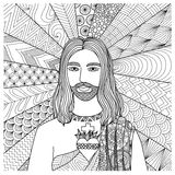 Zentangle stylized of Jesus Christ for coloring book, T- Shirt graphics, cards, illustration and so on - Stock  Stock Photos