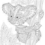 Zentangle Stylized Koala Bear Stock Photo