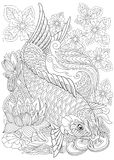 Zentangle stylized koi carp Royalty Free Stock Images