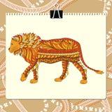 Zentangle stylized lion. Animal collection. Hand Stock Photo