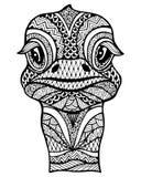 Zentangle stylized ostrich . Stock Image