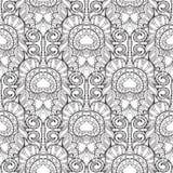 Zentangle stylized peacock feather pattern. Royalty Free Stock Photo