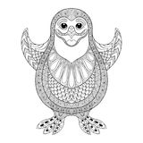 Zentangle stylized Penguin.  Vector the cheerful penguin wants t Stock Images