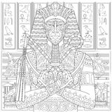 Zentangle stylized pharaoh Stock Image
