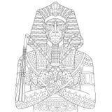 Zentangle stylized pharaoh Royalty Free Stock Image
