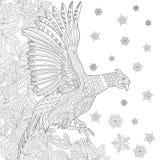 Zentangle Stylized Pheasant Bird Stock Photography