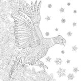 Zentangle stylized pheasant bird Stock Photography