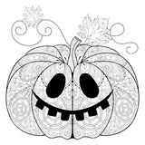 Zentangle stylized Pumpkin for Halloween, Thanksgiving day  Stock Photo