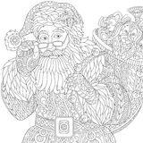 Zentangle stylized Santa Claus Stock Image