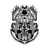 Zentangle stylized scarab Sketch for tattoo poster print t-shirt Stock Photo