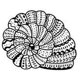 Zentangle stylized shell Royalty Free Stock Photography