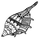 Zentangle stylized shell Royalty Free Stock Image