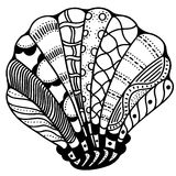 Zentangle stylized shell Royalty Free Stock Photos
