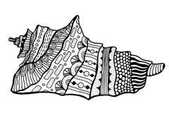 Zentangle stylized shell. Stock Photography