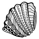 Zentangle stylized shell. Stock Photo