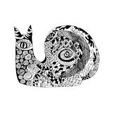 Zentangle stylized snail. Sketch for tattoo or t-shirt. Stock Photos