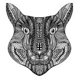 Zentangle stylized Tiger face. Stock Image