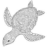 Zentangle stylized turtle Royalty Free Stock Photos