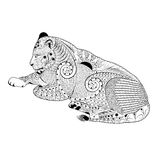 Zentangle stylized vector lioness Royalty Free Stock Images