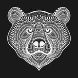Zentangle stylized White Bear face. Hand Drawn doodle vector ill Stock Photo