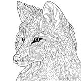 Zentangle stylized wolf Royalty Free Stock Photos