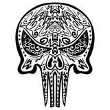 Zentangle stylizował czaszki Freehand nakreślenie Obrazy Stock