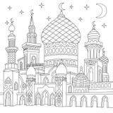 Zentangle stylizował islamskiego meczet royalty ilustracja