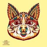 Zentangle stylizował kota Nakreślenie dla tatuażu lub t Zdjęcie Royalty Free