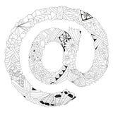 Zentangle stylizował znaka @ Fotografia Stock
