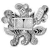Zentangle Technology Icon Stock Image