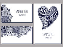 Zentangle templates Stock Images