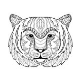 Zentangle-Tigerillustration Stockfoto
