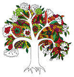 Zentangle Tree Stock Photo