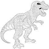 Zentangle tyrannosaurus dinosaur Stock Photos
