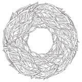 Zentangle upierza mandala, strona dla dorosłej koloryt książki ilustracji