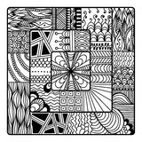 Zentangle vector for coloring book. doodle, mandala. Stock Photo