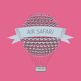 Zentanglelucht baloon Luchtsafari Royalty-vrije Stock Afbeelding