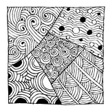Zentangleornament, schets voor uw ontwerp Royalty-vrije Stock Foto's