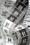 Zentimeter mit Nr. 90 und 60 Stockbild