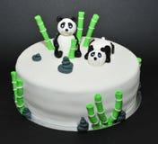 Zenträdgård, kaka för fondant för pandabjörnar royaltyfria foton