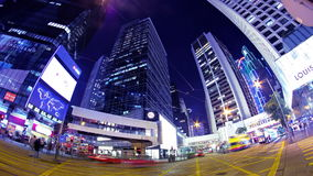 Zentral. Hong Kong City Night Timelapse. stock video footage