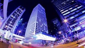 Zentral. Hong Kong City Night Timelapse. stock video