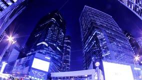 Zentral. Hong Kong City Night Timelapse. Fester Schuss stock video footage