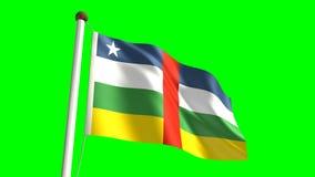 Zentralafrika-Flagge stock video